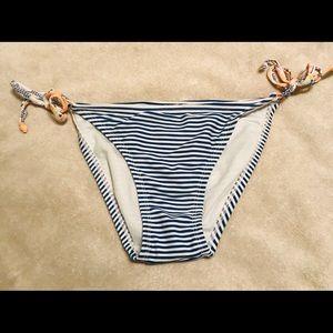 Blue & White Stripped Bikini Bottoms